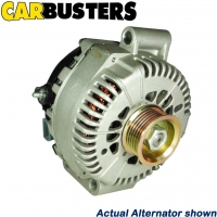 IT IS A PHOTO OF ACTUAL ALTERNATOR WHICH IS PART NUMBER  ALTE1030 PERSPECTIVE FRONT VIEW BY CARBUSTERS AUTO PARTS