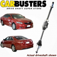 IT IS A PHOTO OF ACTUAL DRIVESHAFT, DRIVE SHAFT, PART NUMBER DRIV1240 AND VEHICLE TOYOTA CAMRY ACV40R 4DOOR SEDAN FRONT AND REAR VIEW