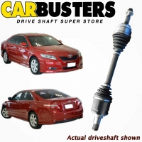 IT IS A PHOTO OF ACTUAL DRIVESHAFT, DRIVE SHAFT, PART NUMBER DRIV1250 AND VEHICLE TOYOTA CAMRY ACV40R 4DOOR SEDAN FRONT AND REAR VIEW