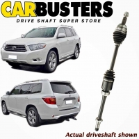 IT IS A PHOTO OF ACTUAL DRIVESHAFT, DRIVE SHAFT, PART NUMBER DRIV2470 AND VEHICLE TOYOTA KLUGER GSU40R 4DOOR WAGON FRONT AND BACK VIEW