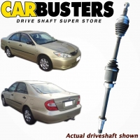 IT IS A PHOTO OF ACTUAL DRIVESHAFT, DRIVE SHAFT, PART NUMBER DRIV2180 AND VEHICLE TOYOTA CAMRY MCV36R 4DOOR SEDAN FRONT AND REAR VIEW
